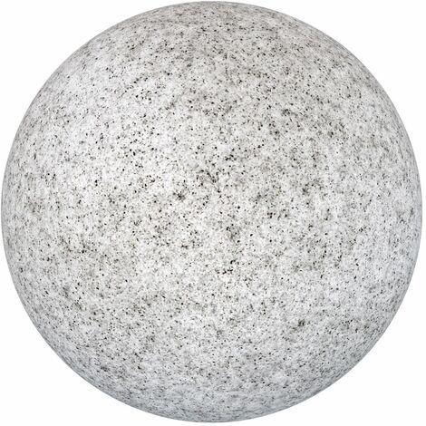 Lámpara exterior bola efecto piedra de plástico HDPE gris de Ø 60x60 cm