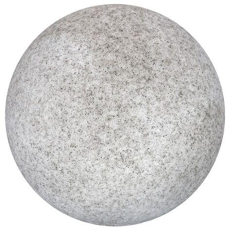 Lámpara exterior de granito nórdica gris de 30x30x30 cm