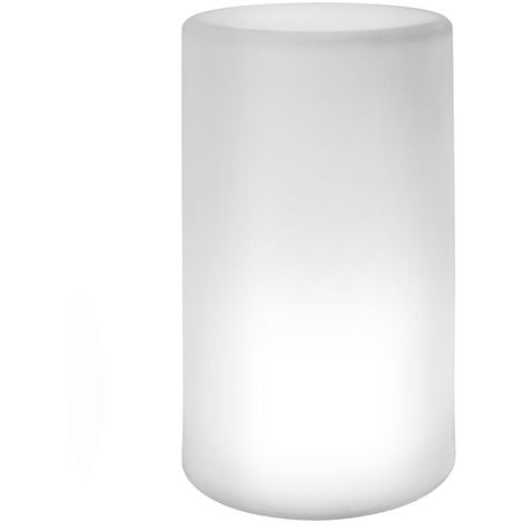 Lámpara exterior de mesa led minimalista blanca de 20x11x11cm