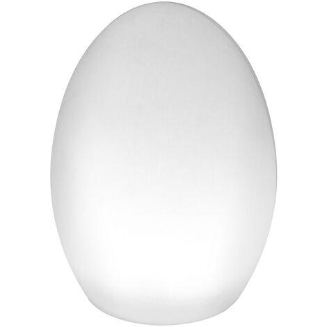 Lámpara exterior de mesa led moderna blanca de 19x14x14 cm
