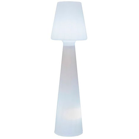 Lámpara exterior polietileno blanco Lola