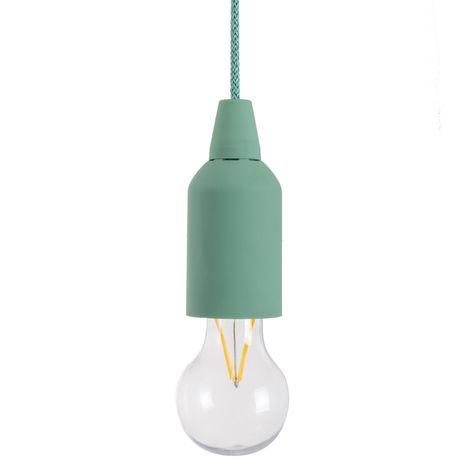 """main image of """"Lámpara exterior Pull & Click colgante verde de Ø 5X16 cm"""""""