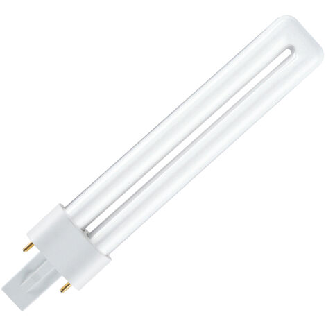 Lámpara FD Dulux S G23 11W 4000°K 900Lm 237mm. Osram (010618) (Caja)