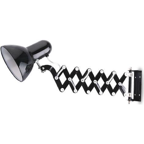 Lámpara Flexo de pared extensible negro 60W 130x440mm. (GSC 1900825)