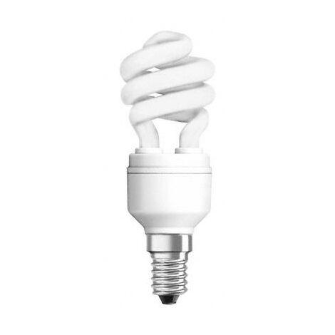 Lámpara fluorescente compacta duluxstar E14 11W 2400°K 42x109mm. (Osram 1334398N)
