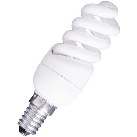 Lámpara fluorescente compacta E14 11W 4200°K 550Lm 32x100mm. (GSC 2000213)