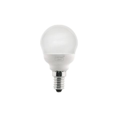 Lámpara fluorescente compacta esférica Duna E14 10W 4100°K 420Lm (B&F 581110U6)