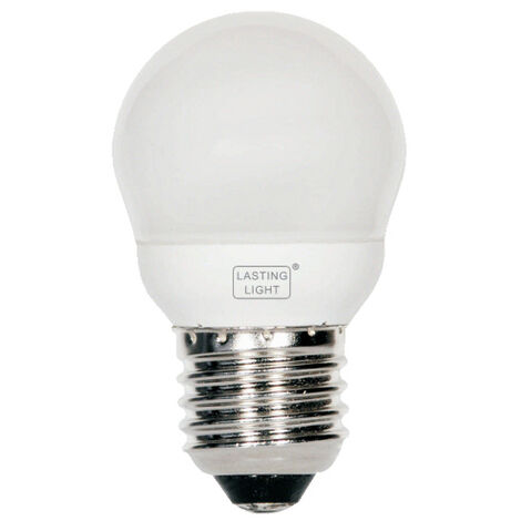 Lámpara fluorescente compacta esférica Duna E27 10W 2800°K 420Lm (B&F 581110U7)