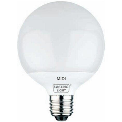 Lámpara fluorescente compacta globo Midi E27 25W 4200°K 95x129mm. (B&F 581593)