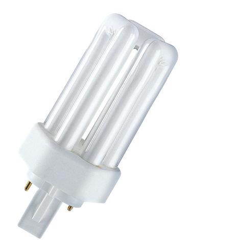Lámpara fluorescente Dulux T Plus 2 PIN GX24d-2 18W 2700°K 124mm. (Osram 333502)
