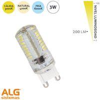 Lámpara G9 64 LEDs SMD3014 3W 200Lm 30.000H -Disponible en varias versiones