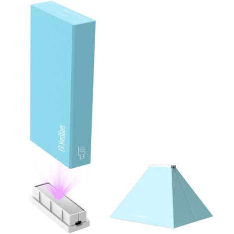 Lampara germicida ultravioleta, caja de esterilizador UV LED, azul