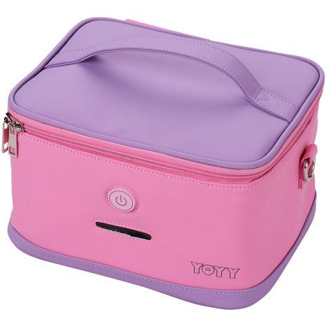 Lampara germicida ultravioleta, caja de esterilizador UV LED, rosa