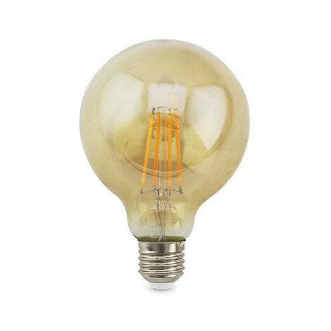 Lámpara globo cristal Led caramelo E27 7W 125x175mm. (GSC 2004850)
