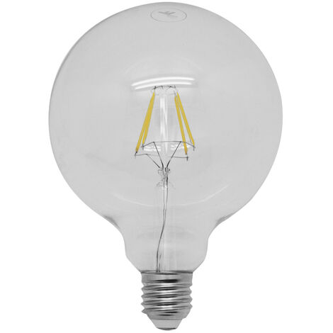 Lámpara globo cristal Led E27 4W 6000°K G125 (F-BRIGHT 2601913)