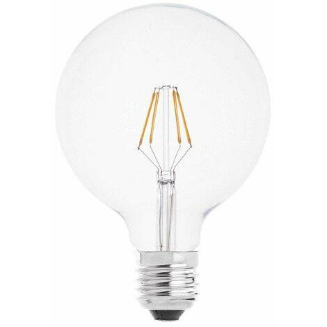 Lámpara globo filamento Led E27 4W luz cálida G125 (F-BRIGHT 2601912)