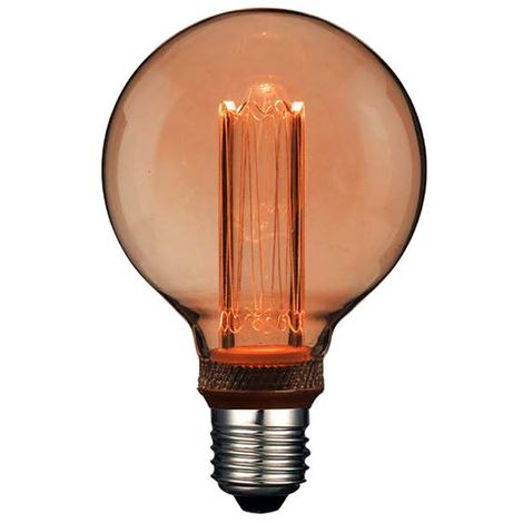 Lámpara globo filamento Led efecto incandescente 95G 4W 1800°K (F-Bright 2601215)