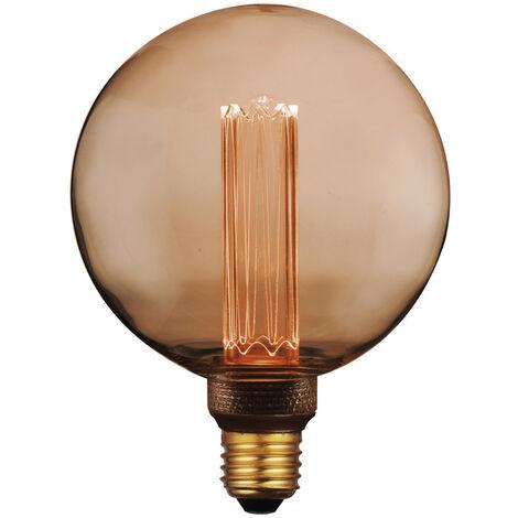 Lámpara globo filamento Led efecto incandescente ámbar 125G 4W 1800°K (F-Bright 2601216)