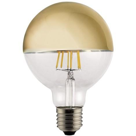 Lámpara globo filamento Led reflectora oro G125 E27 6W 2700°K (Cristal Record 51-125-06-004)