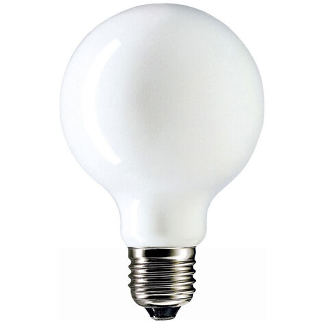 Lámpara globo incandescente opal E27 100W 1135Lm Ø95 (Laes 52462)