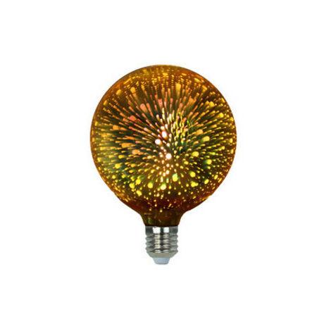 Lámpara globo Led modelo fireworks 3D dorada 4W E27 G125 (Electro DH 81.172/3D/G)