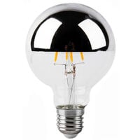Lámpara globo reflectora filamento Led espejo plata 8W G125 3000°K (Electrobilsa 2601791)