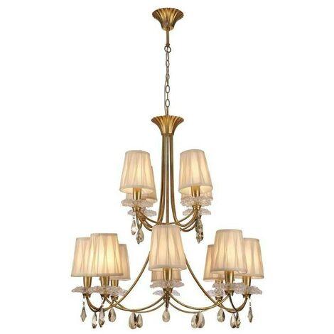 Lámpara gran formato 8+4 luces modelo SOPHIE de Mantra en oferta