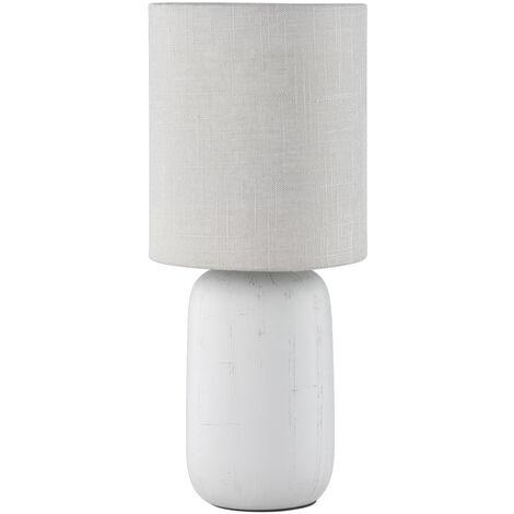 Lámpara gris cerámica de sobremesa modelo Clay E14 (Trio Lighting R50411025)