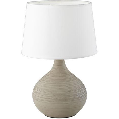 Lámpara gris cerámica de sobremesa modelo Martin E14 (Trio Lighting R50371025)