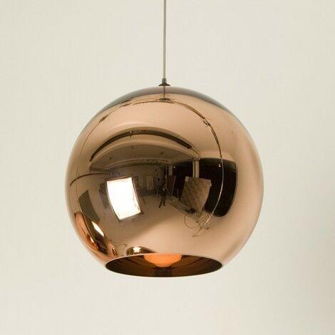 """main image of """"Lámpara HUGO, colgante, cristal, dorada, 30 cms de diámetro"""""""