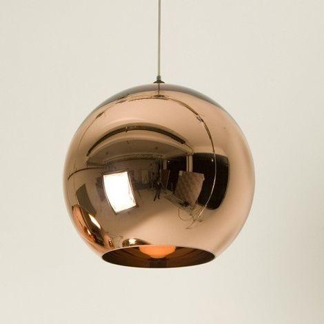 """main image of """"Lámpara HUGUET, colgante, cristal, color cobre, 25 cms de diámetro"""""""