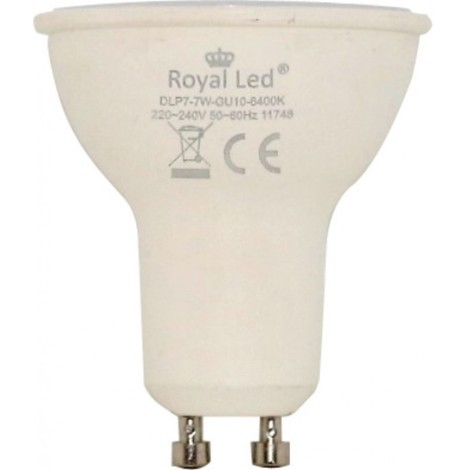 Lampara ilumin led dicr gu10 7w 700lm 3000k royal led