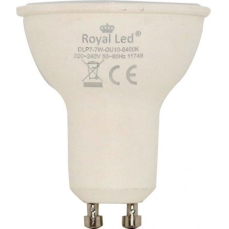 Lampara ilumin led dicr gu10 7w 700lm 6400k royal led