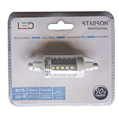 Lampara ilumin led lineal 78mm 8w 800lm 6400k starson