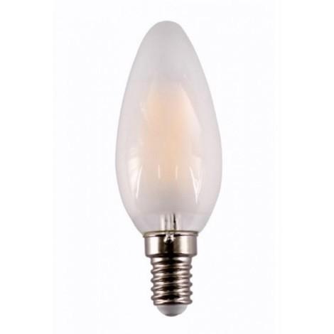 Lampara ilumin led vela filamento e14 4w 450lm 2700k mate rs