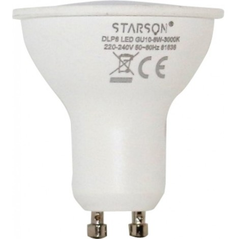 Lampara iluminacion led dicroica gu10 8w 800lm 3000k starson 111104