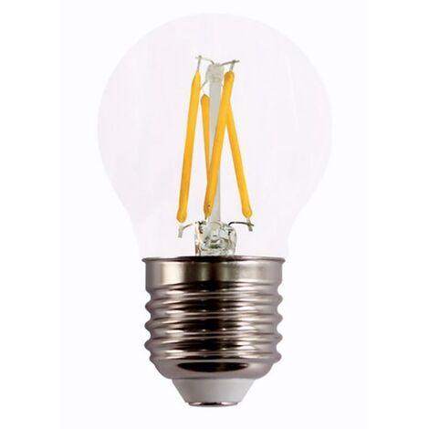 Lampara Iluminacion Led Esferica Filamento Clara E27 4W 490Lm 2700K Cristal Rsr 0563