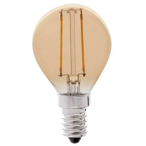 Lampara Iluminacion Led Esferica Filamento Vintage E14 4W 350Lm 2200K Cristal Rsr 0462A
