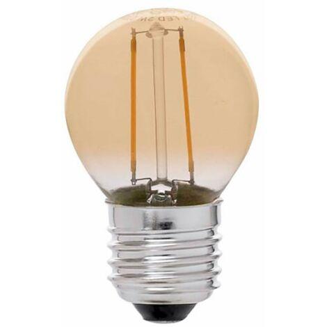 Lampara Iluminacion Led Esferica Filamento Vintage E27 4W 350Lm 2200K Cristal Rsr 0562A