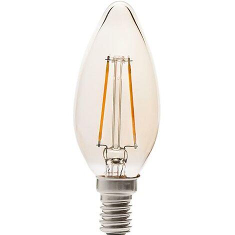 Lampara Iluminacion Led Vela Filamento Vintage E14 4W 350Lm 2200K Cristal Rsr 0342A