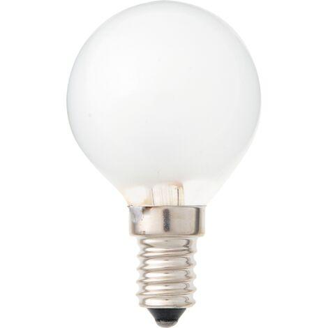 Lámpara incandescente esférica reforzada E14 60W 420Lm 45x77mm.
