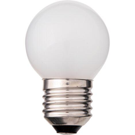 Lámpara incandescente esférica reforzada E27 25W 140Lm 45x71mm.