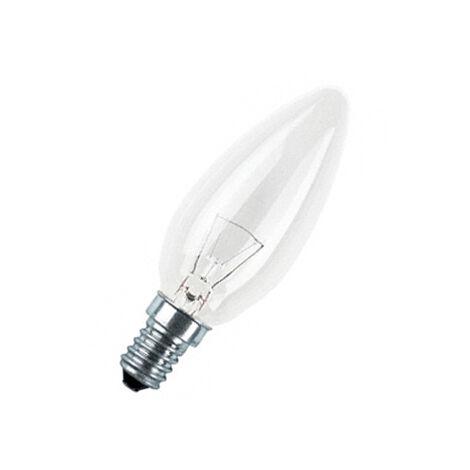 Lámpara incandescente vela lisa E14 60W (G.E. 90583) (Blíster 2 uds)