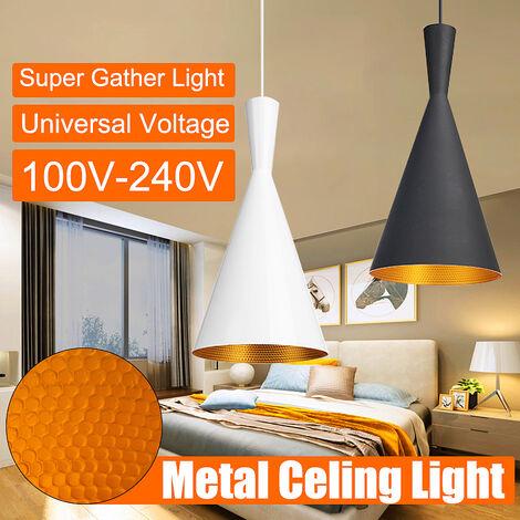 Lámpara industrial retro con suspensión, lámpara de techo, accesorio de iluminación, iluminación decorativa, negro (negro)