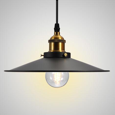 Lámpara industrial retro de 220 V, lámpara de techo de hierro, luces colgantes, accesorio de luz para cafetería, pantalla de 26 cm (bombilla no incluida)