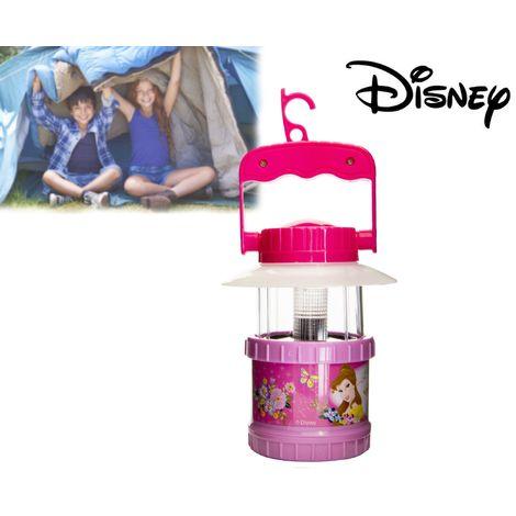 Lámpara infantil camping con funcionamiento a pilas – motivo de PRINCESAS DISNEY