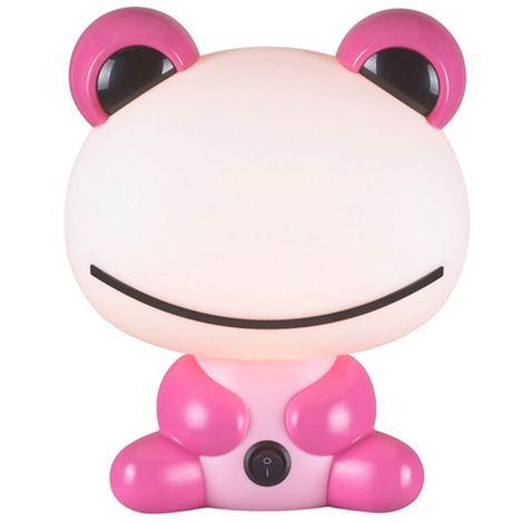 Lámpara infantil de sobremesa Rana rosa