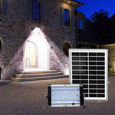 Lámpara Led 2000 lumens panel solar exterior y jardín FLOOD