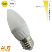 Lámpara Led 6W Vela E27