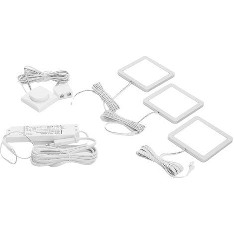 Lámpara LED bajo mueble Antony, set de 3 unidades